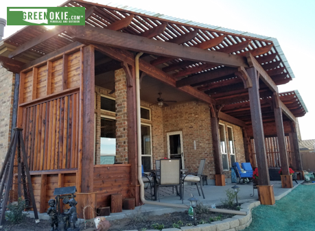 Custom Split Level Pergola